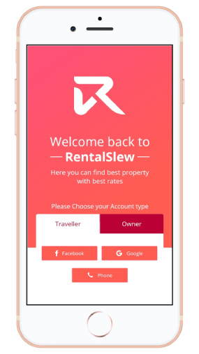 vacational rental app login